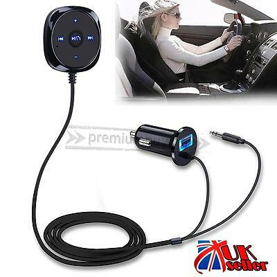 3.5mm Wireless Bluetooth Car AUX Adapter USB Charger Audio Music Receivers UK