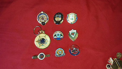 Selection of Metal / Enamel Bowling Club Badges