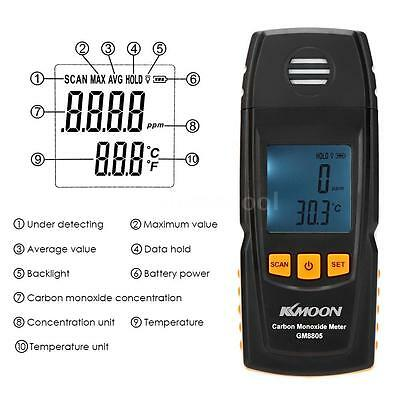 Portable Carbon Monoxide Meter LCD Digital CO Gas Test Detector Monitor Tool US