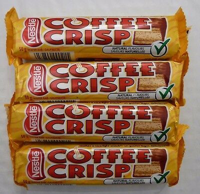 8 Coffee Crisp Chocolate Candy Bars Regular Size 50g Fresh From Canada Nestle