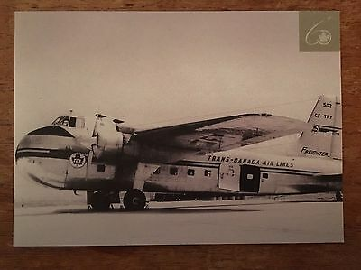 AIR CANADA Through The Years 60 Bristol Freighter Airline Issued Postcard