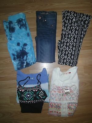 justice girls lot size 10 jeans tops pants gently used