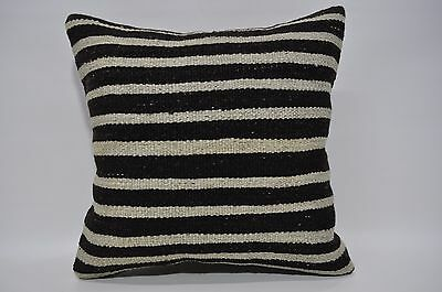 Bohemian Kilim Pillow Throw Pillow 18x18 Striped Pillo Turkih Cushion Cover 52