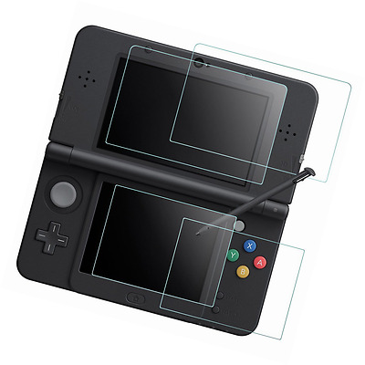 Screen Protector for Nintendo NEW 3DS, AFUNTA 2 Pack (4 Pcs) Tempered Glass for