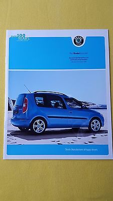 Skoda Roomster TDI S SE Scout paper brochure sales catalogue October 2009 MINT