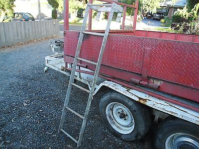 steel hook ladder for work shop pit or roof access or very strong bunk beds