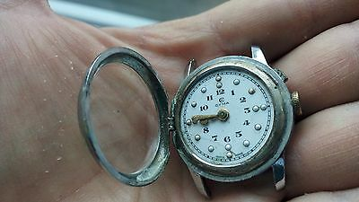 Old Swiss Clock CYMA for blind- Works