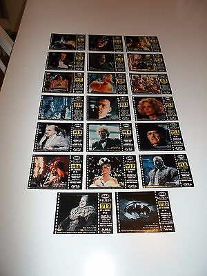 1992 Batman Returns Special Sticker  Cards-  Full Set Of 20 - All Unused!