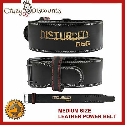 Power Weight Lifting Leather Belt Back Support Gym Training Fitness Ufc Boxing N
