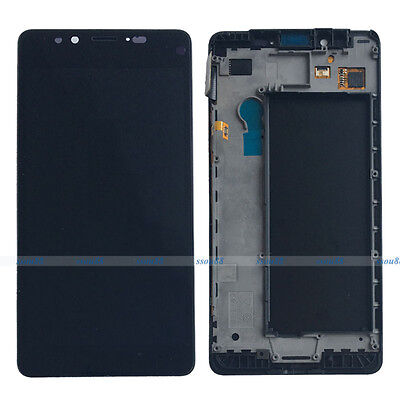 Black LCD Display Touch Screen Digitizer Assembly +Frame for Microsoft Lumia 950
