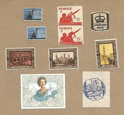 Cindarellas.(10) Pro Soviet Union, Food for Britain, Coronation etc.(Ref 961)
