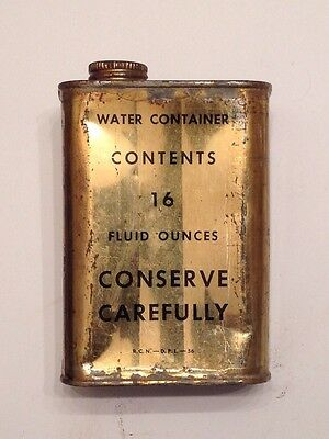 NICE VINTAGE 1956 ROYAL CANADIAN NAVY 16oz WATER RATION NEVER OPENED TIN