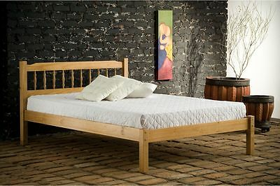 Santos Double Bolted Antique Finish 3Ft 4Ft 4Ft6 Solid Pine Bed Birlea