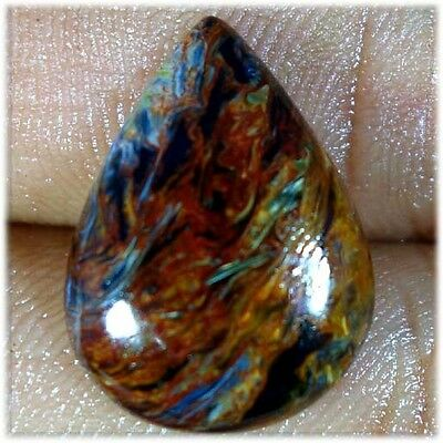 Natural Chatoyant Pietersite Loose Gemstone Fine Quality Pear Cabochon 12.75Cts.