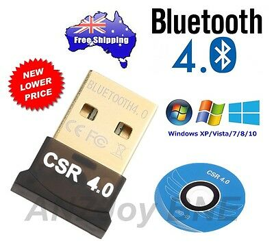 NEW Mini USB 2.0 Bluetooth V4.0 Dongle Wireless Adapter 3Mbps Speed 4 PC Laptop