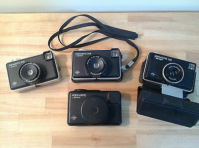 3 X Vintage Agfamatic Cameras, Photography, Cameras, Collectable