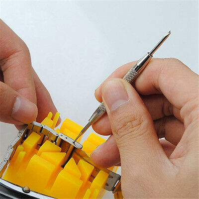 Watch Band Spring Bars Strap Link Pins Remover Repair Kit Tool Watchmaker CXU