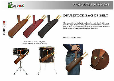 The Hand Drumstick Bag Made Entirely By Hand Genuine Leather Borsa Bacchette