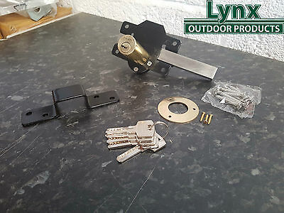 PERRY 70mm Long Throw Gate Lock,Garden Gate/shed/door keyed one side Lockable