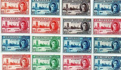 commonwealth stamps, george vi victory