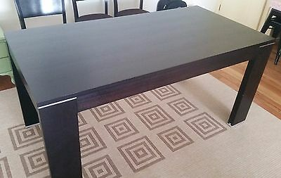 Dining Table - Dark Wood Timber