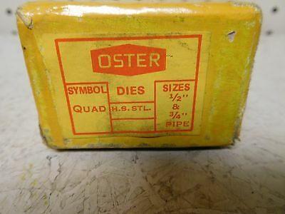 "Used, Oster  Pipe Dies  1/2"" & 3/4"""