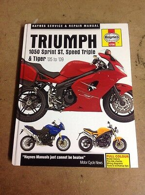 Triumph Sprint ST, Speed Triple, Tiger 1050 Haynes Manual 05-09