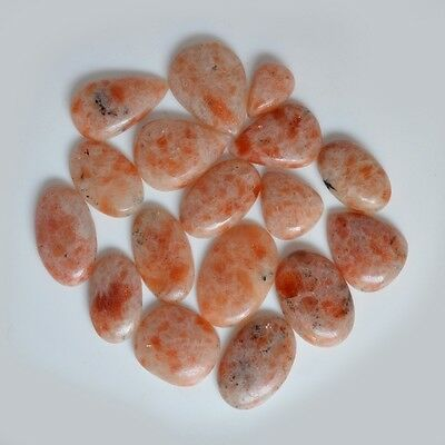 Clearance Sale 522 Ct.~17 Pc Aaa Natural Sunstone Cabochon Loose Gemstone 33165