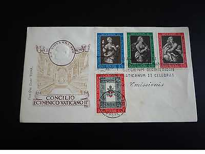 Timbres.n°28649.vatican.fdc.1962