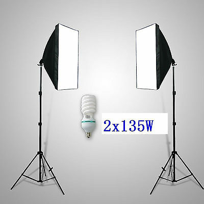 270w Photography SOFT BOX LIGHT STAND KIT Photograhic Green Screen