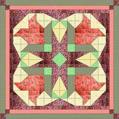 Quilt Kit/Easter Blossom Stars/Pre-cut Fabrics Ready To Sew*****