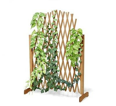 Wooden Climbing Plant Expanding Fence Outdoor Garden Support Trellis Patio Wood