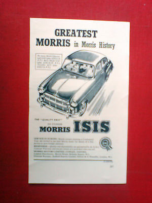 1955 advert for the morris isis. greatest morris in morris history