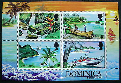 Doninica: Tourism Set Of 4 Mnh Stamps & M/s Mnh