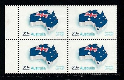 1981 Australia Day block of 4 with margin. All MUH/MNH