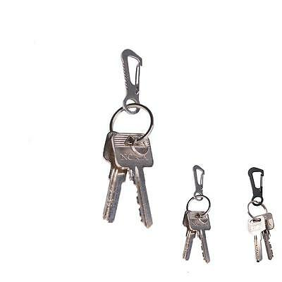 Mini EDC Stainless Steel key Set Kits Quick Release Clip KeyChain Carabiner CX