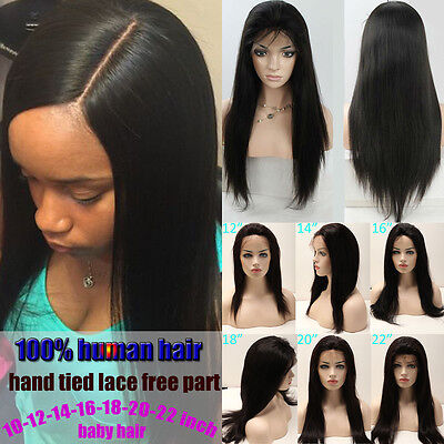 UK Sale 100% Brazilian Human Hair Long Curly Wave Full Lace Wig Lace Front Wig