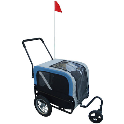 #S Dog Bike Bicycle Trailer Storller Jogger Outdoor Grey And Blue