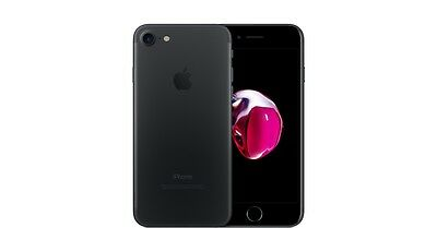 "Apple iPhone 7 (A1778) 128GB iOS Unlocked Black 4.7"" Smartphone (ML1386)"