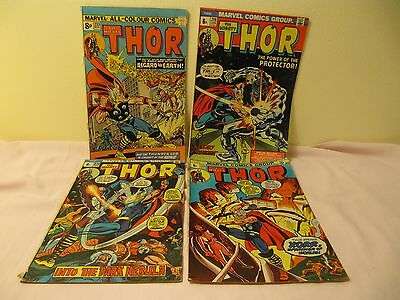 Marvel, Thor Comics, 219 Jan1974 ,215 Sept1973,214 Aug 1973,233 Mar 1974,