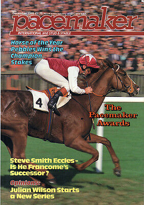 Pacemaker Magazine December 1985 - vintage horse racing publication
