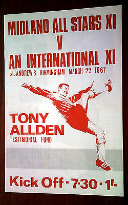 Tony Allden Testimonial Fund Programme,st.andrews Birmingham,march 22Nd 1967.