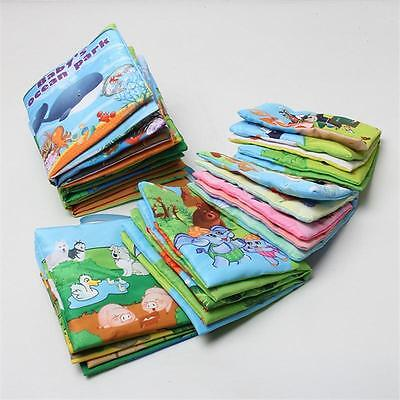 7X Baby Cute Soft Intelligence Development Cloth Cognize Book Educational Toy C