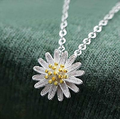 2016 Hot Female fashion Flowers Necklace 925 silver jewelry Fine Christmas gift