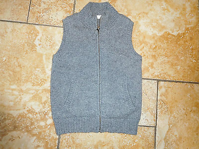 The Little White Company Grey Lambswool/cotton Zipped Waistcoat Age 3-4 Years