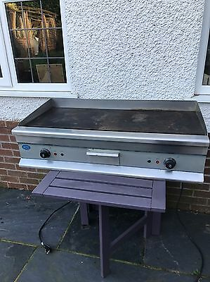 """Large ACE CHROME TOPPED 100cm or 39.5"""" Electric Griddle  2x 3 KW FREE P&P"""