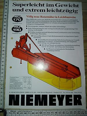 A24) Niemeyer Söhne GMBH& CO.KG, Rotormäher, advertising, Rotary mower, Reklame