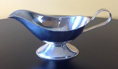 Silver Plated Vintage Gravy Sauce Boat