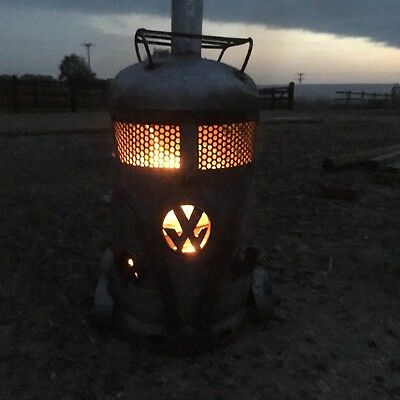 Vw Inspired Gas Bottle Wood Burner Stove  Bbq Log Patio Heater Chimminea Fire