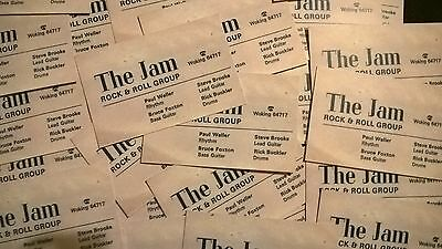 The Jam - Reproduction Business Card 1975/76